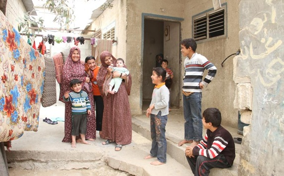 Basem's family, supported by Islamic Relief in Gaza, Palestine