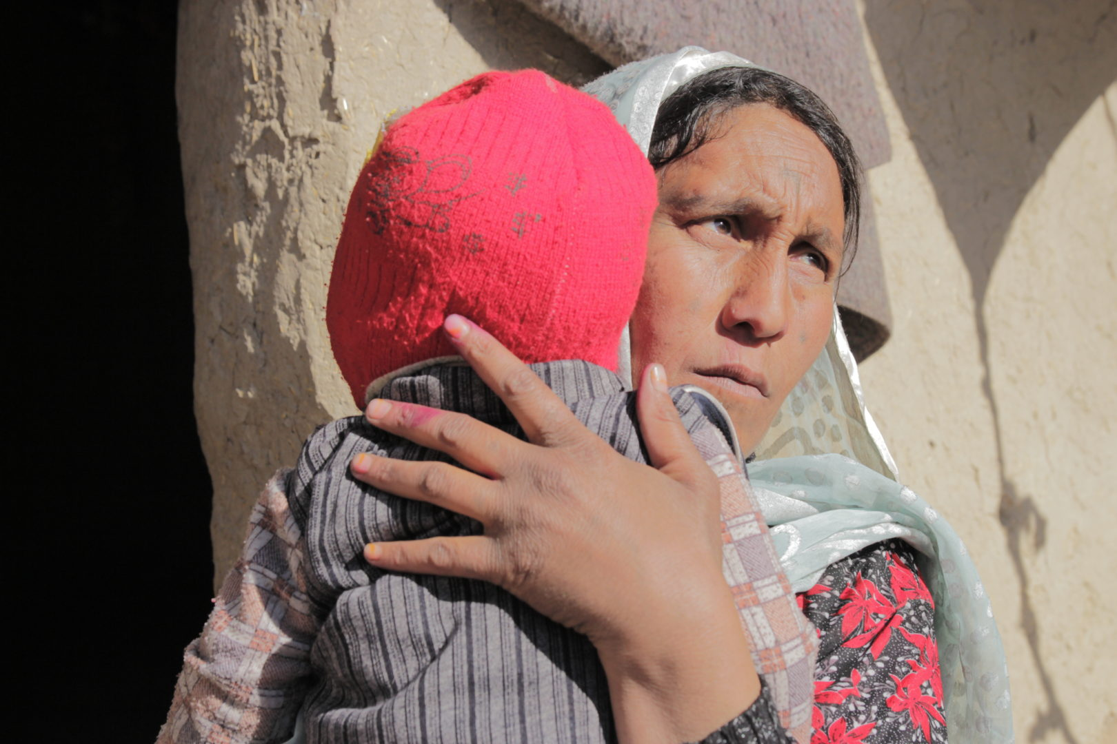 Lailoma and her son, Esa Khan, live in an IDP camp in Kabul, Afghanistan which is supported by Islamic Relief.