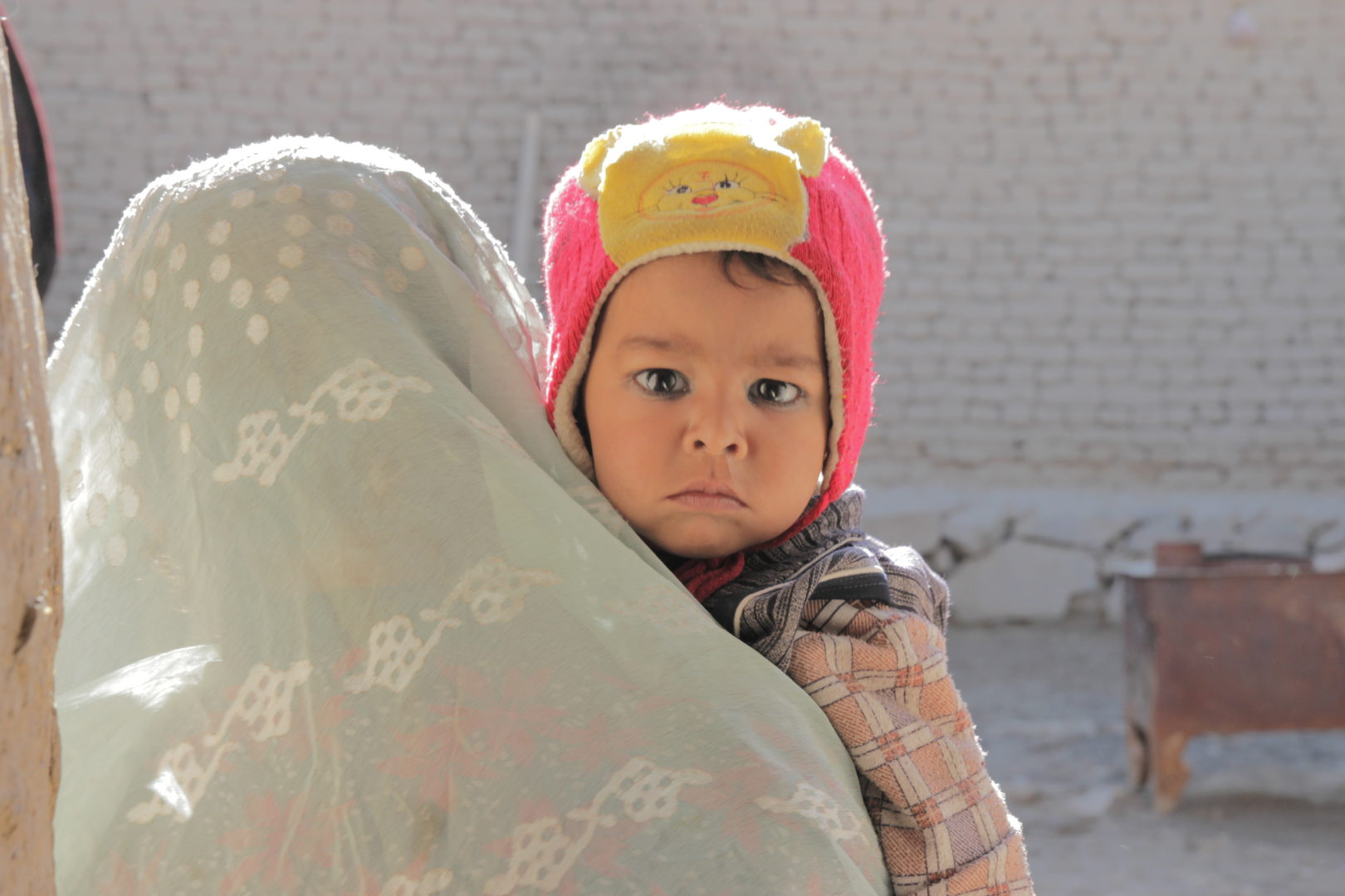 Esa Khan, aged one, lives in an IDP camp in Kabul with his mother Lailoma, where they are supported by Islamic Relief.