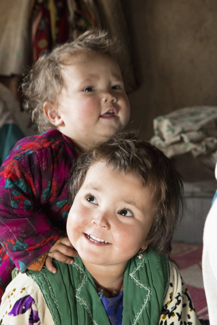 Medina and Zabiullah, children of Abdul Rahim, who was able to quit his drug addiction thanks to Islamic Relief's drug rehabilitation clinic in Afghanistan.