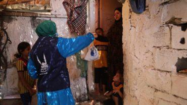 منظمة الإغاثة الإسلامية ، الاضاحي تصل الأسر في غزة
